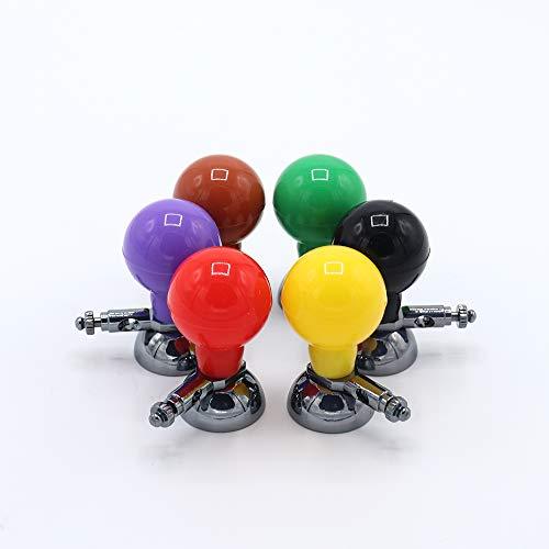 Sino-K - Elettrodo di aspirazione universale ECG/EKG palla multicolore Ag/AgCI per adulti, 6 pezzi