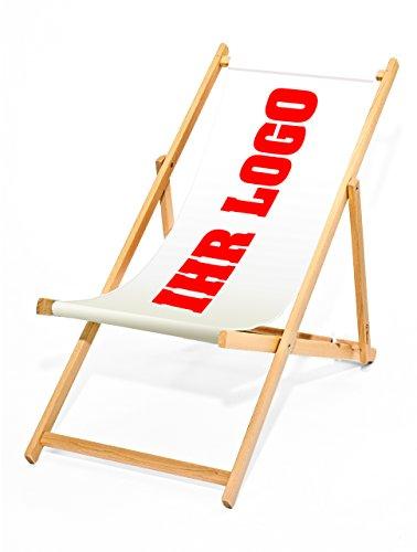 MultiBrands® Liegestuhl Bedrucken, bedruckbarer Holz-Liegestuhl, ohne Armlehne, klappbar, individuell, inklusive vollflächiger Druck