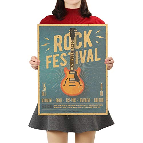 Muziek Gitaar C Stijl Poster Slaapkamer Muurposter Home Decor Moderne Rock Muursticker voor Decor 47x36cm