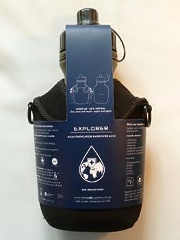 drinksafe-systems Gourde filtrante avec housse et lanière Vert 1 l
