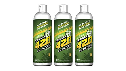 All Natural by Formula 420   Glass Cleaner   Cleaner Pack   Safe on Glass, Metal, Ceramic, and Pyrex   Cleaner - Assorted Sizes (16 oz - 3 Pack)