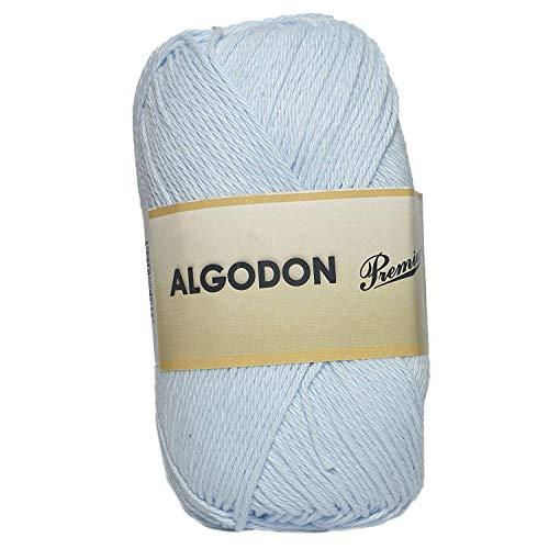 Hilo Ovillo de Algodón Premium 100% Algodón perfecto para DIY y tejer a mano (Color Celeste Bebe...