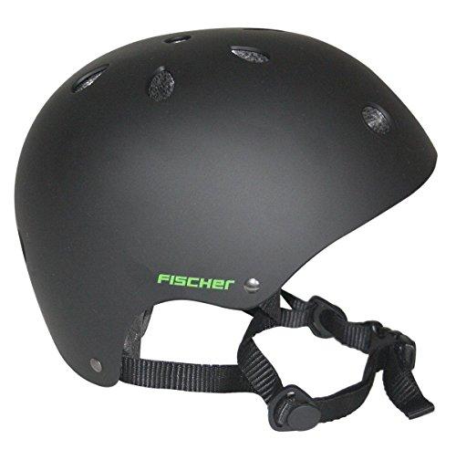 Fischer BMX Fahrrad Skater Helm (Schwarz, S)