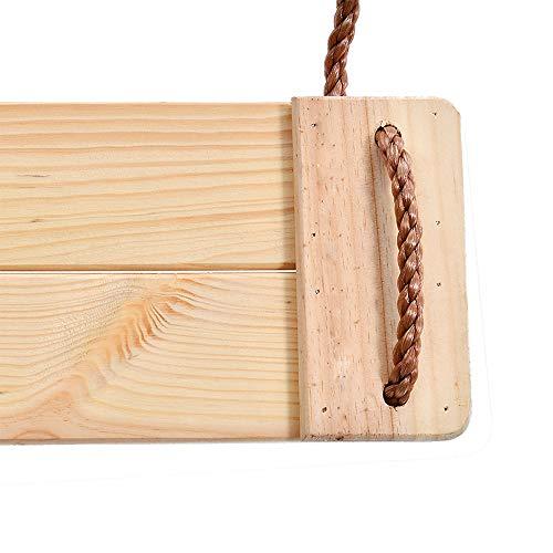 Hangende houten boomschommel verstelbaar 78 inch henneptouw 40 inch verbindingsbandaccessoires voor achtertuin, speeltuin, veranda, terras, tuin, park of huis