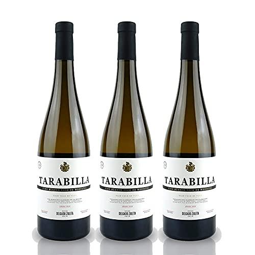 Vino Blanco Tarabilla de 75 cl - D.O. Tierra de Cadiz - Bodegas Delgado Zuleta (Pack de 3 botellas)