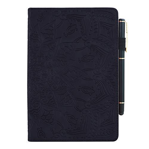 TXLING Custodia per tablet Kindle Fire HD 8 e tablet Fire HD 8 Plus (10a generazione, versione 2020) Custodia con supporto Flip in pelle Premium Smart Cover, con penna touchscreen (nera)