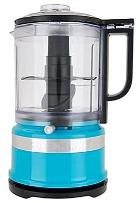 KitchenAid KFC3516CL 3.5 Cup Food Chopper, Crystal Blue (RENEWED) (CERTIFIED REFURBISHED)