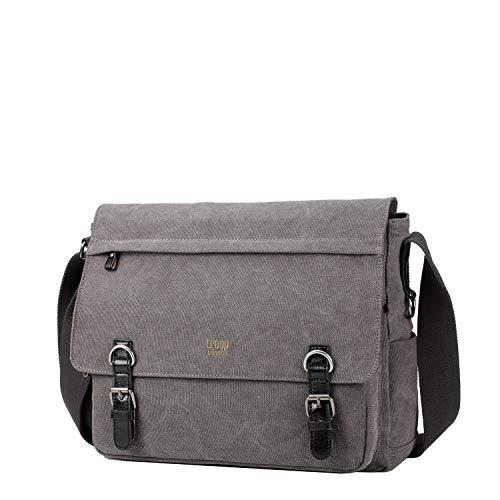 TRP0207 Troop London Classic Canvas Laptop Messenger Bag