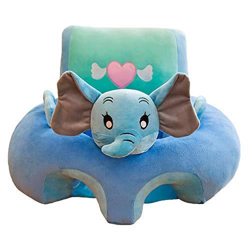 Siège de bébé en peluche, soutien siège canapé en peluche douce en forme d'animal, bébé apprentissage assis siège coussin protecteur canapé-A
