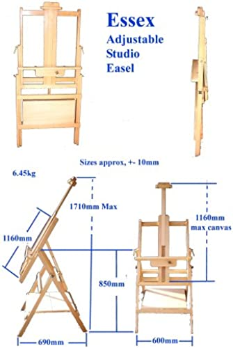Essex Quad Leg H Frame Easel With Base Shelf