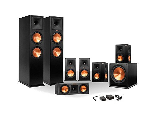 Klipsch 7.1 RP-250 Reference Premiere Surround Sound Speaker Package with R-110SW Sub and a Free Wireless Kit (Ebony)