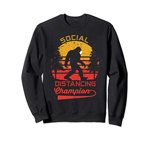 Social Distancing Champion Gift - Funny Bigfoot Design Sudadera