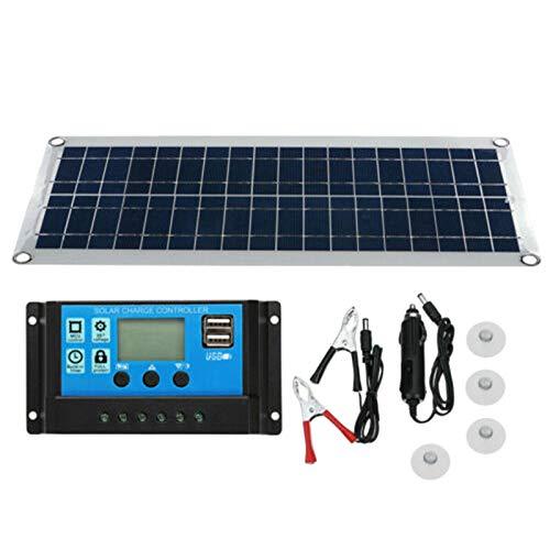 Basage Flexibles 30 W USB Solar Panel Kit mit Zwei USB AnschlüSsen + 40 A Kontrolleur + Clip für Kfz Ladeger?Te im Freien
