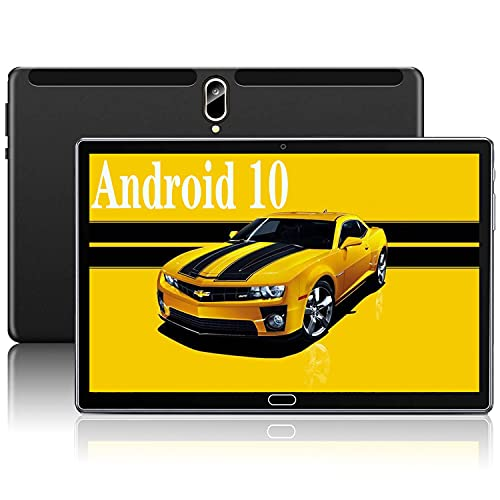 Tablet 10 Pollici,UOVAKIN Android Tablets con 4G LTE + WIFI,4GB RAM + 64GB ROM,Processore Octa-Core,Batteria 8000mAh,Dual SIM,GPS,Bluetooth 5.0,Google Certificazione GMS,Type-C (64GB, Nero)