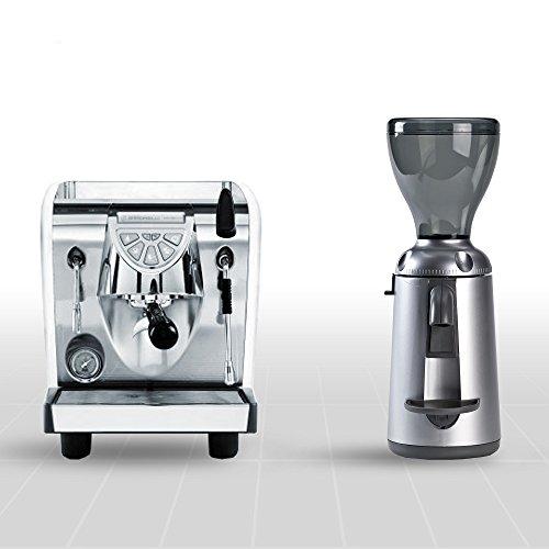 Combo Set Espressomaschine Musica Lux und Kaffemühle Nuova Simonelli Grinta AMMT chrome