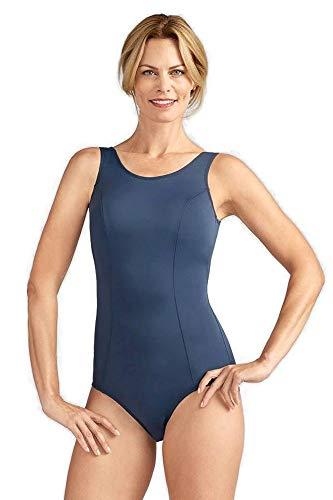Amoena Damen Badeanzug Rhodes Polyester Einteiler - Blau - 42 DE/C