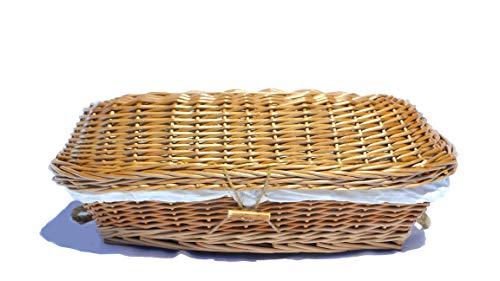 Hand Woven Burial Eco Friendly Wicker Pet Casket