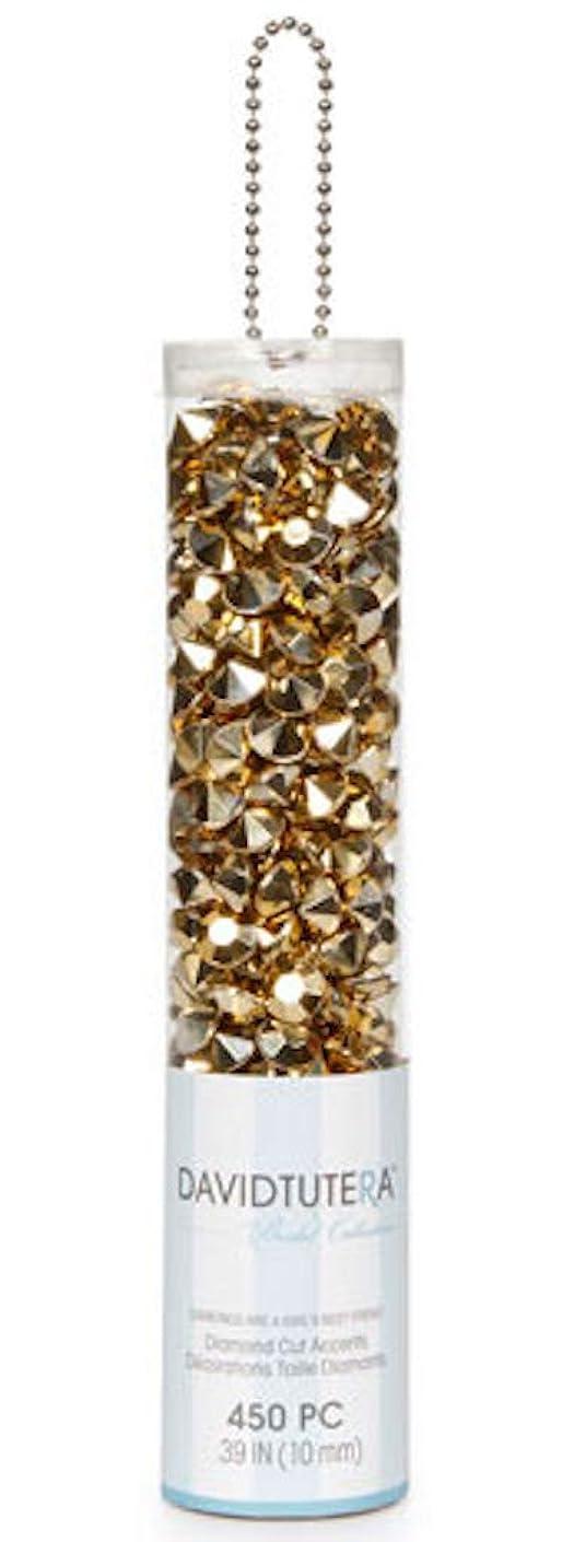DAVID TUTERA 450 Metallic Gold Diamond Shape Gems Vase Wedding Tables
