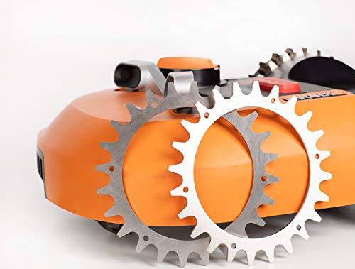 Spunti per robot tosaerba, miglioramento della trazione per Worx Landroid S/M, 205 mm, in alluminio