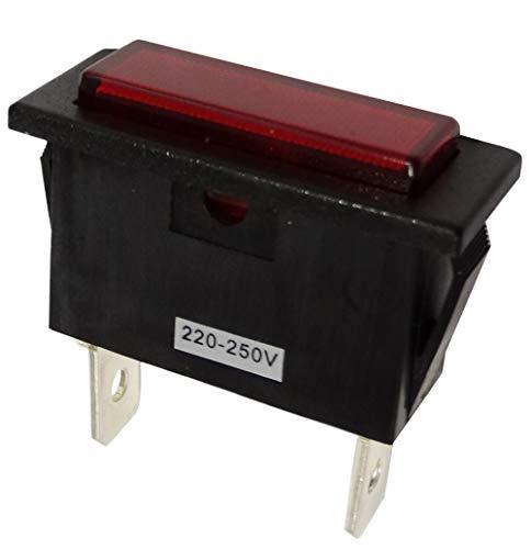 AERZETIX: 5 X Kontrollleuchte 230V Neon Rote Farbe Rechteckig 33,5/14,1 mm C43584