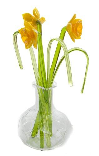 Deko-Narzissen in Vase, Glas