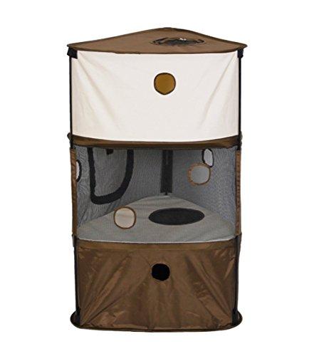 Tissi Katzenspielzeug Spiel Turm Compact Multi Levels Non-Wave Tuch Reisezelt Brown
