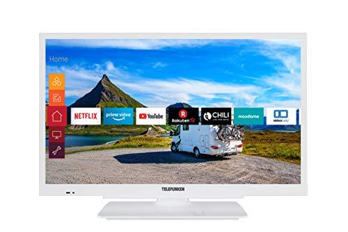 Telefunken XF22G501V-W 55 cm (22 Zoll) Fernseher (Full HD, Triple Tuner, Smart TV, 12 V, Works with Alexa) [Modelljahr 2021]