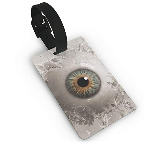 Etiquetas de Equipaje de Globo Ocular líquido con Correa de Mano Etiqueta de Bolsa de Maleta de Viaje Duradera Etiqueta de identificación