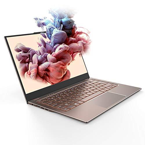 "Jumper Laptop X3 Air, 13.3"" Full HD IPS Display, Intel Celeron N4100 Processor, 8GB DDR4 RAM 128GB SSD Thin and Light Computer, DTS Sound, 180°Rotation, Full Metal Body, Windows 10, Mocha Brown"