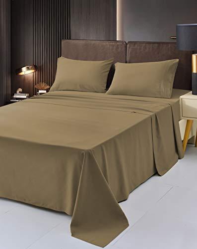 Mutlu Home Goods King-Size – 4-teiliges Tigeraugen-Bettlaken-Set – Premium-Bambus-Bettwäsche – tiefe Taschen, hypoallergen, verblasst nicht, knitterfrei, schmutzabweisend