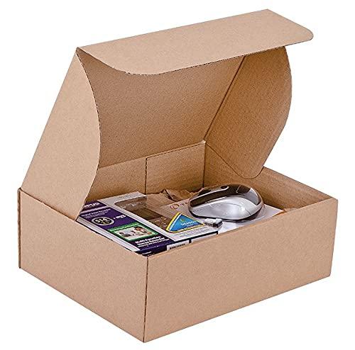 Scatole Cartone Fustellate Avana 22x15,5x10cm Scatoloni Imballaggio Spedizioni Cartoni Trasloco Scatoli in cartone Ondulato Leggere Solide e Resistenti - set da 10 - Made in Italy