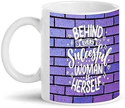 SarkarsPrint's Ceramic Personalised Photo Designed Women's Day Coffee Mug 350ml (White)