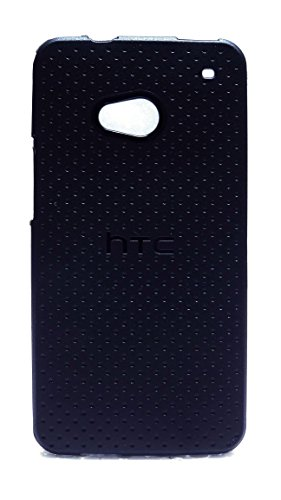 Case Creation Ultra Thin Perfect Flexible Soft Black Corner Protection with TPU Slim Back Cover for HTC One Dual SIM 802D (CDMA + GSM)/HTC One 802w