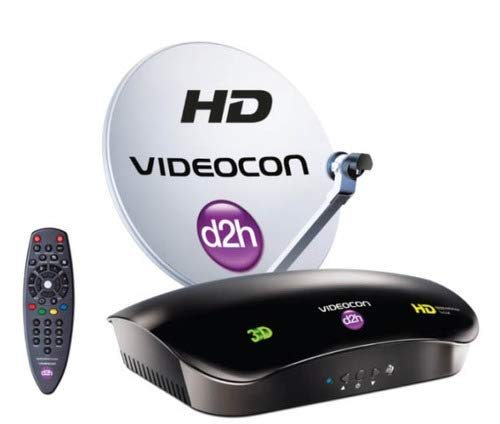 Videocon D2H HD Set Top Box with 1 Month Free Gold HD Pack
