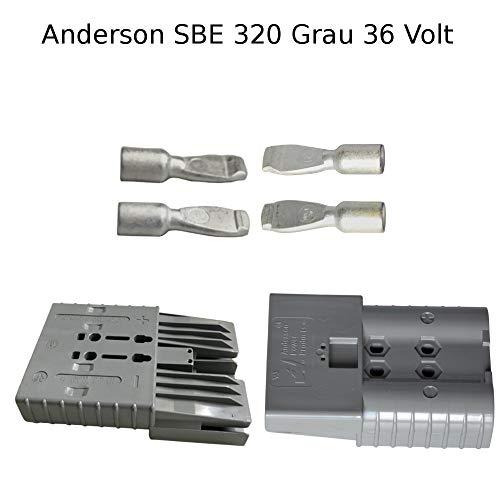 Anderson - Conector de batería (36 V, SBE, 320 A, clavija de contacto SBX/E, 95 mm²), color gris