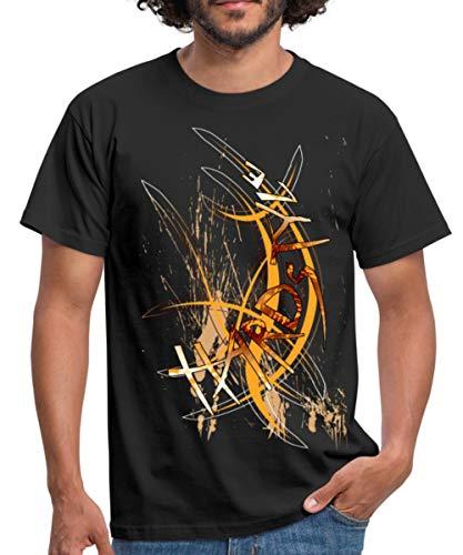 Cool Hardstyle Typographie Männer T-Shirt, XXL, Schwarz