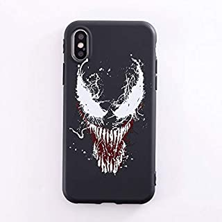 Maxlight Marvel Venom Phone Case for iPhone 7 8 Plus Case for iPhone X XS MAX XR Soft Silicone Cases (A, for iPhone XR)