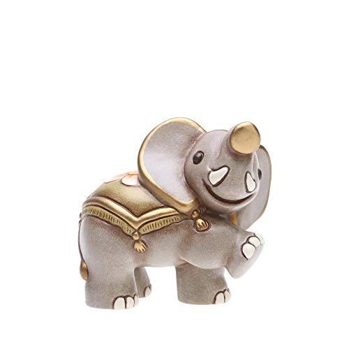 THUN - Figura de Belén Elefante – Decoración navideña para casa – Línea de pesebre clásico – Cerámica – 7 h cm