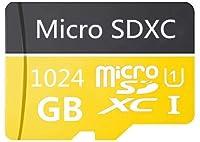 1024GB Micro SDカード 高速クラス10 SDXC 無料SDアダプター付き Androidスマートフォン、タブレット、その他の互換性のあるデバイス用に設計 (1024GB-B)