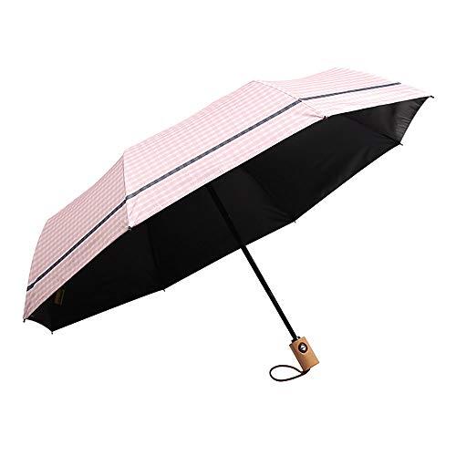 XBR Paraguas Plegables Mujer Vogue, Paraguas Compacto y Resistente al Viento 8...