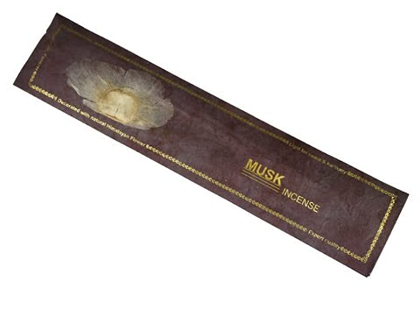 マージンクランプ甘美なNEPAL INCENSE ネパールのロクタ紙にヒマラヤの押し花のお香【MUSKムスク】 スティック