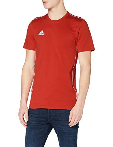 adidas Core18 Tee T-Shirt, Uomo, Power Red/White, 2XL
