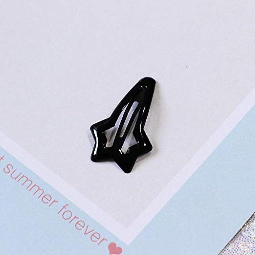 乱れエントリ尊厳HuaQingPiJu-JP ファッションシンプルなキャンディー色の子供のヘアピン便利なヘアクリップ(黒)