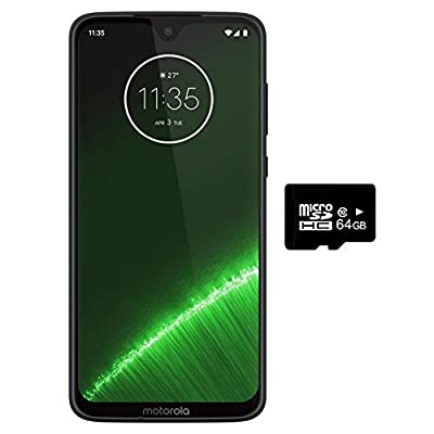 "Motorola Moto G7+ Plus (64GB, 4GB RAM) NFC, Dual SIM 6.2"" 4G LTE (GSM Only) Factory Unlocked Smartphone International Model XT1965-2"