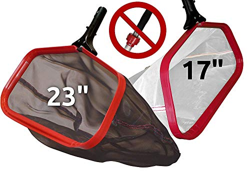 ProTuff Silt & Leaf Rake Bundle - Unlimited Free Replacements - 2-Items: 23 Inch Medium & 17 inch Fine Mesh Pool Cleaner for Sand, Silt, Pollen, Leaves & Twigs - Nearly 24 & 18 inch