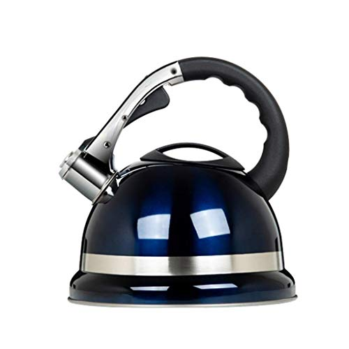 YFGQBCP Calentador de Agua Hervidor con Silbato Acero Inoxidable Silbato Hervidor de inducción Retro 3.5L Tacto Suave Negro Mango de Agarre fácil Hervidor de inducción Cocina