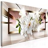 decomonkey Bilder Blumen Abstrakt 120x40 cm 1 Teilig