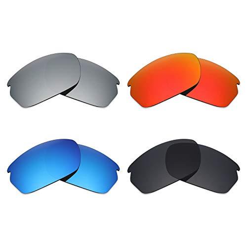 Mryok 4 Paar Gepolariseerde Vervangende Lenzen voor Oakley Carbon Shift Zonneglas - Stealth Zwart/Vuur Rood/IJsblauw/Zilver Titanium