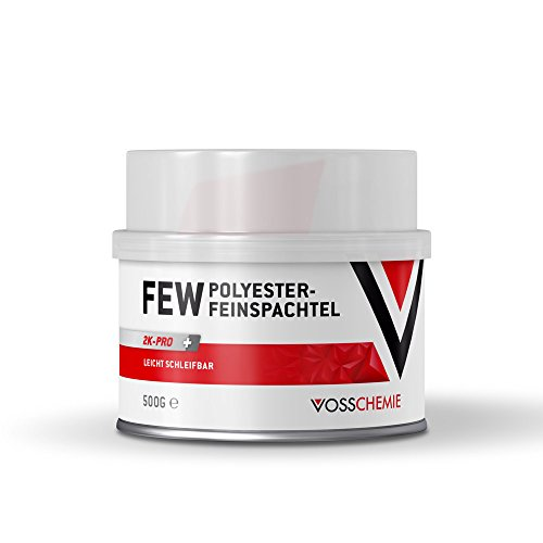 Vosschemie FEW Feinspachtel 500g - 2K Polyesterspachtel für die professionelle Anwendung im DIY und Handwerk