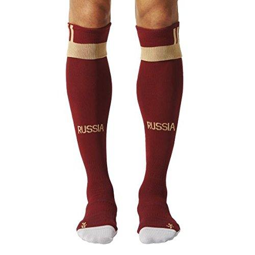 adidas Federación Rusa de fútbol 2015-2016 - Medias Oficial, Color Rojo/Dorado, Talla 0
